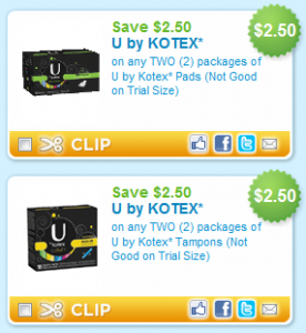 Pick up a super discount on your favorite U by Kotex products. With the new coupons and sale, you can get the products for as little as a buck starting tomorrow at Publix! Be sure to add these to your list if you'll use them. U by Kotex Tampons, 15 or 18 ct, Pantiliners, 40 to 64 ct, or Security.