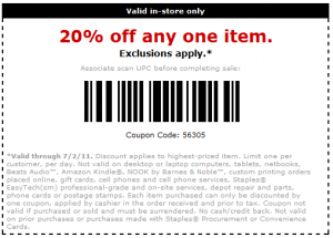 Staples printable coupons in store