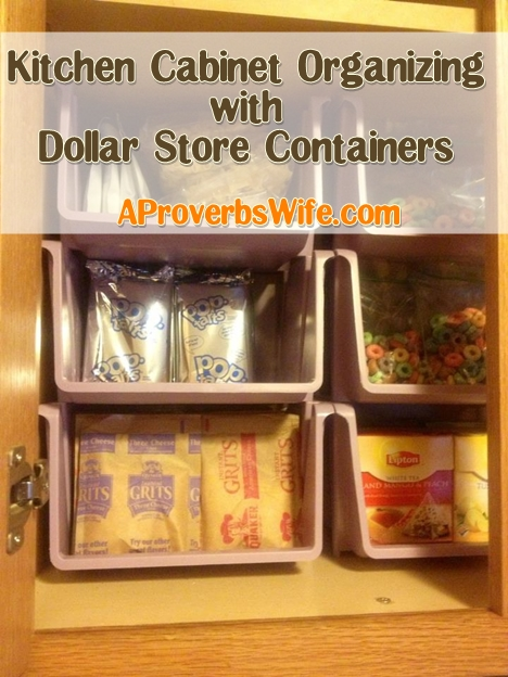 Organized homemaking deep freezer re do with dollar store for Ideas organizing kitchen cabinets