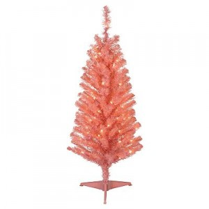 St Nicholas Square 4 Ft Le Pine Pre Lit Pink Christmas Tree Only 9 99 Shipped Down From 44