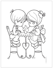 Free Precious Moments Coloring Pages Precious Moments Coloring Pages