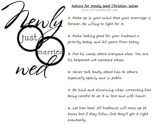 Advice For Newly Wed Christian Wives