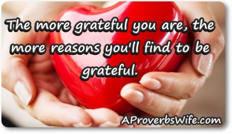A Grateful Heart | AProverbsWife.com