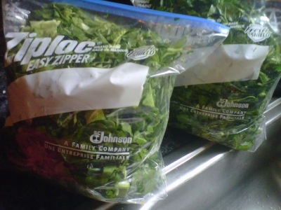 DIY Bagged Collard Greens