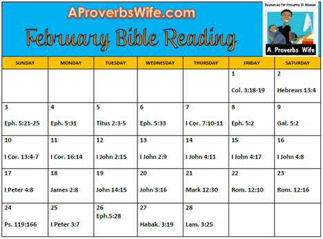 FREE Printable February Bible Reading Plan | A Proverbs Wife