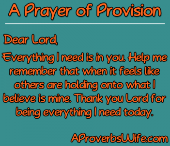 Prayer of Provision