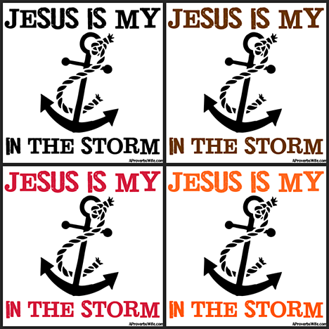 Jesus Is my Anchor Square