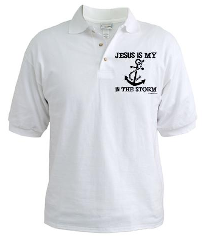 Jesus is my Anchor Black Golf