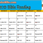 May 2013 Bible Reading Plan