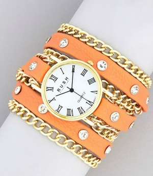 Rush Gold and Orange Bracelet