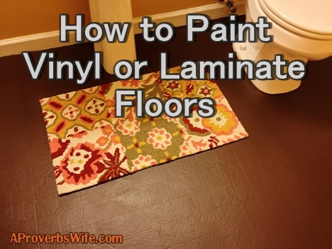 How To Paint Vinyl Or Laminate Floors