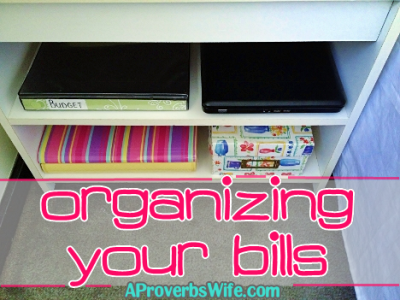 Organizing Your Bills