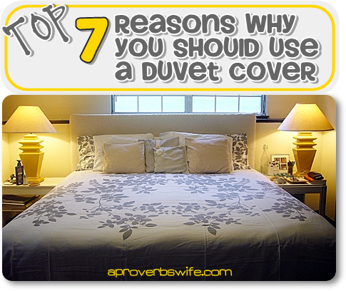 Top 7 Reason Why You Should Use a Duvet Cover - AProverbsWife.com