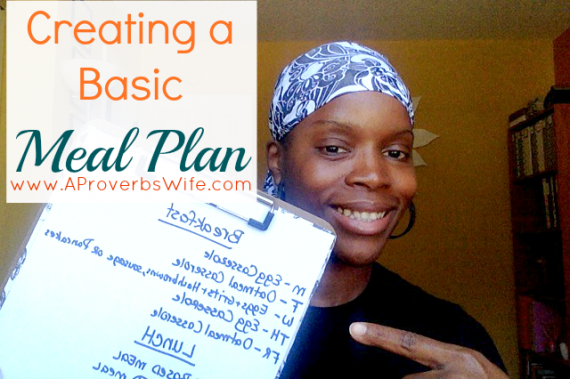 Creating a Basic Meal Plan