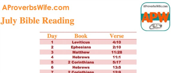 FREE July Bible Reading Plan