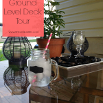 DIY Ground Level Deck Tour www.AProverbsWife.com