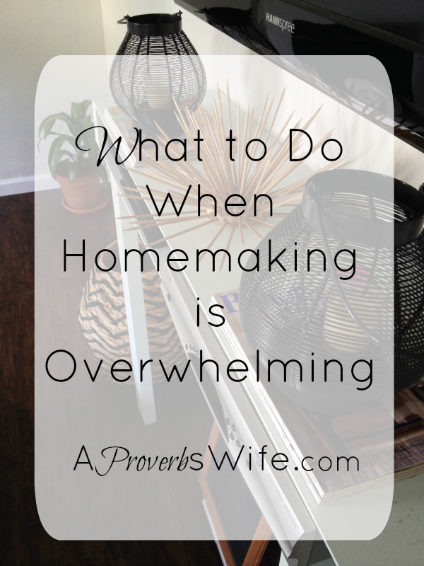 What to Do When Homemaking is Overwhelming