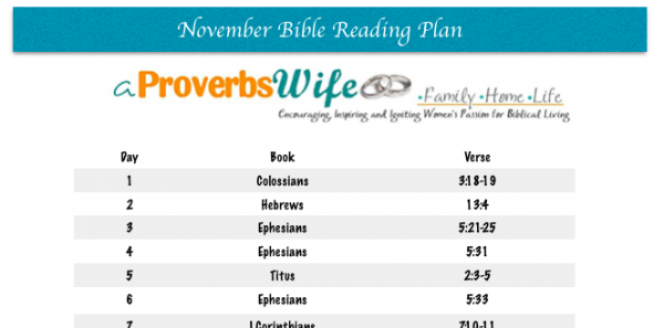 November Bible Reading Plan Printable