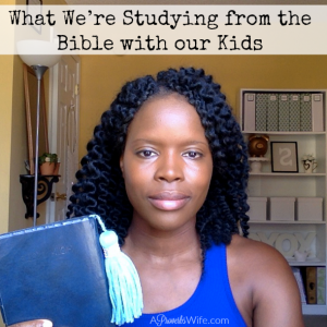 What We're Studying from the Bible with our Kids -