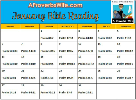 FREE Printable January 2013 Bible Reading Plan | A ...
